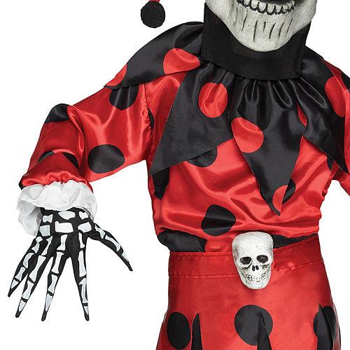 Boys Evil Skeleton Jester Costume Image #3