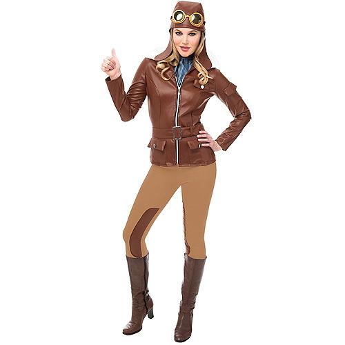 Adult Lady Lindy Aviator Costume Accessory Kit Image #1