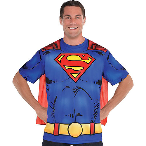 Adult Superman T-Shirt with Cape Image #1