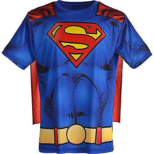 Adult Superman T-Shirt with Cape Image #2