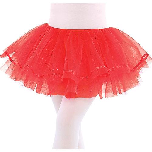 Child Red Shimmer Tutu Image #1