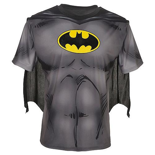 Adult Batman T-Shirt with Cape Image #1
