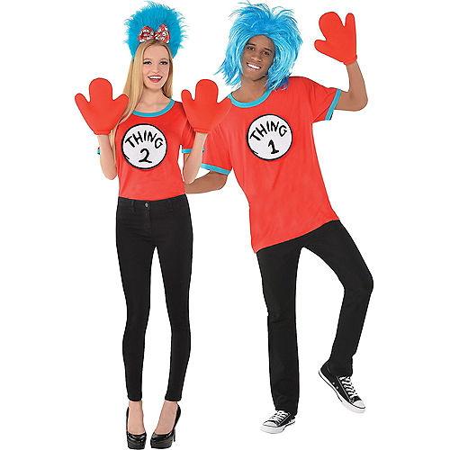Adult Thing 1 & Thing 2 Accessory Kit - The Cat in the Hat Image #1