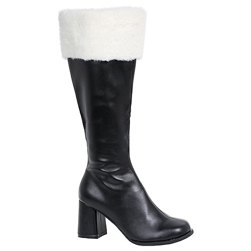 Adult Black Go-Go Boots Image #1