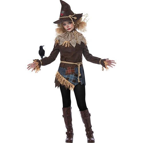 Girls Creepy Scarecrow Costume Image #2