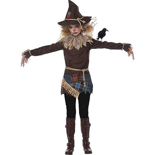 Girls Creepy Scarecrow Costume Image #3