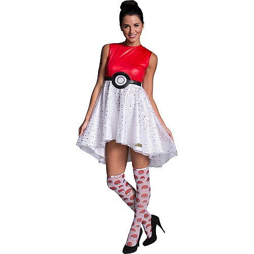 Adult Pokeball Dress Costume - Pokemon Image #1