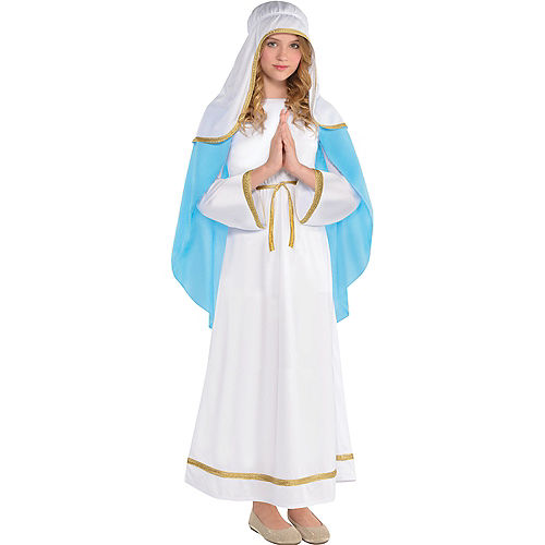 Girls Holy Virgin Mary Costume Image #1