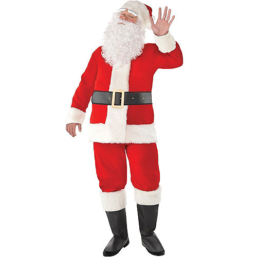 Adult Velvet Santa Suit Image #1