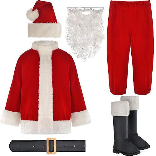 Adult Velvet Santa Suit Image #2