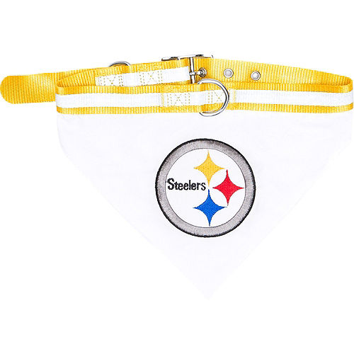 Pittsburgh Steelers Bandana Dog Collar Image #1