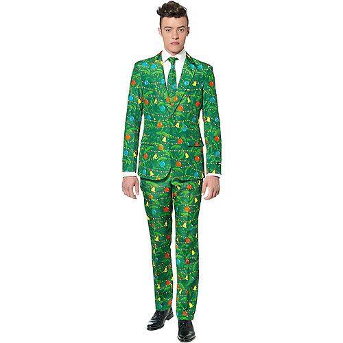 Adult Christmas Lights Suit Image #1