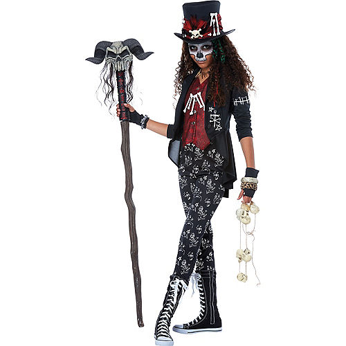 Girls Voodoo Charm Witch Doctor Costume Image #1