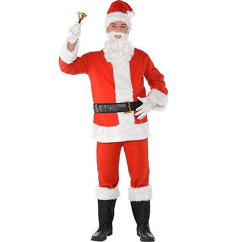 Adult Flannel Santa Suit Costume Kit Image #1