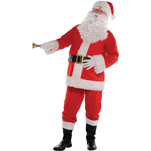 Adult Flannel Santa Suit Costume Kit Image #2