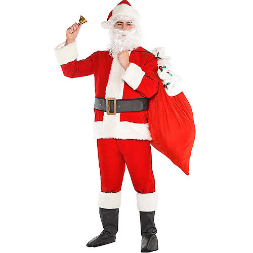 Adult Velvet Santa Suit Costume Kit Image #1