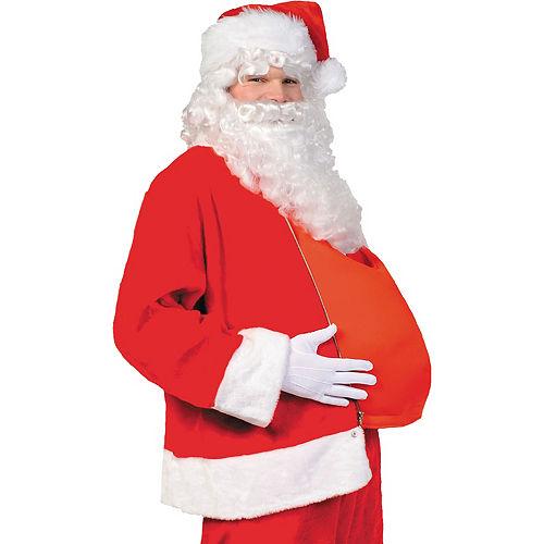 Adult Dark Red Santa Suit Costume Kit Image #3