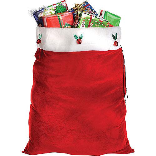 Adult Dark Red Santa Suit Costume Kit Image #5