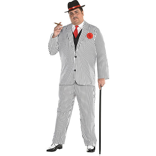 Mens Big Gangsta Costume Plus Size Image #1