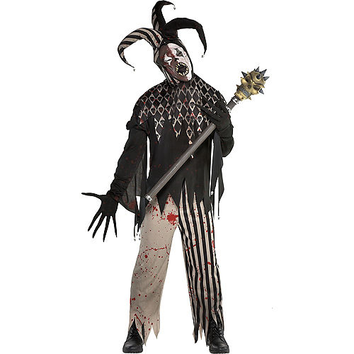 Mens Twisted Jester Costume Image #1