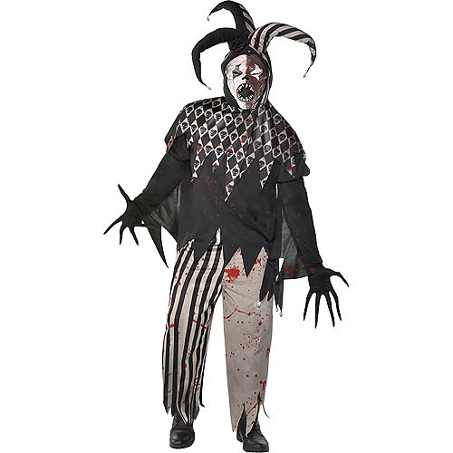 Mens Twisted Jester Costume Plus Size Image #1