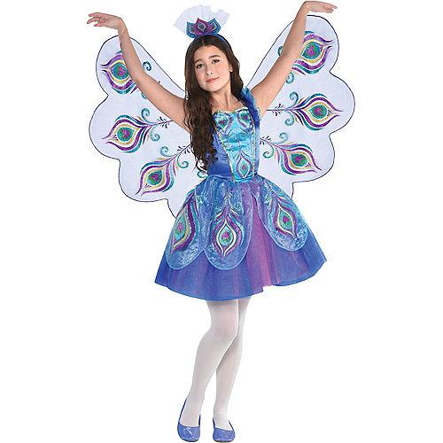 Girls Pretty Peacock Costume Image #1
