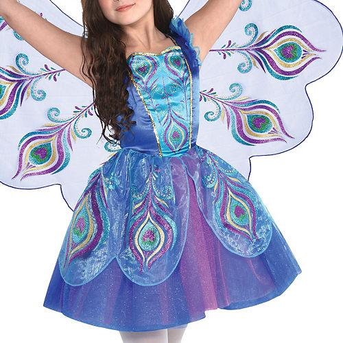 Girls Pretty Peacock Costume Image #2