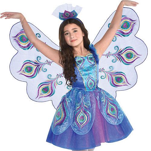 Girls Pretty Peacock Costume Image #4