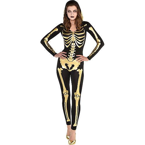 Womens 24 Carat Bones Skeleton Costume Image #1