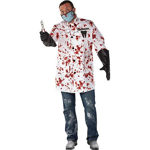 Mens Demented Dentist Costume Plus Size Image #1