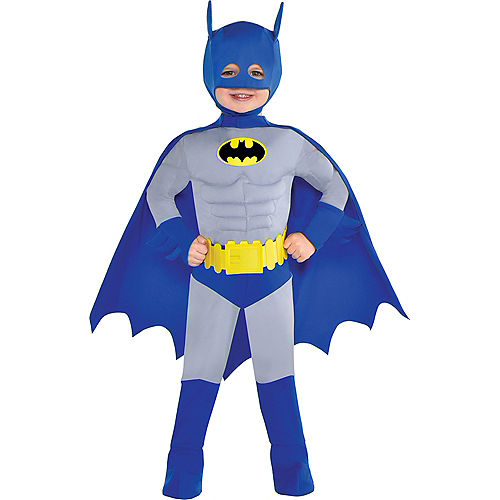 Toddler Boys Classic Batman Muscle Costume - The Brave & the Bold Image #1