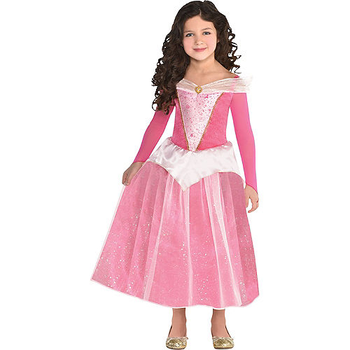 Girls Classic Aurora Costume - Sleeping Beauty Image #1
