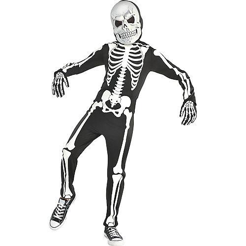 Boys Glow-in-the-Dark X-ray Skeleton Costume Image #1