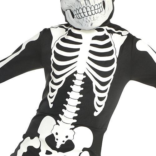Boys Glow-in-the-Dark X-ray Skeleton Costume Image #3