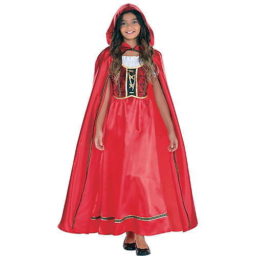 Girls Fairytale Red Riding Hood Costume Image #1