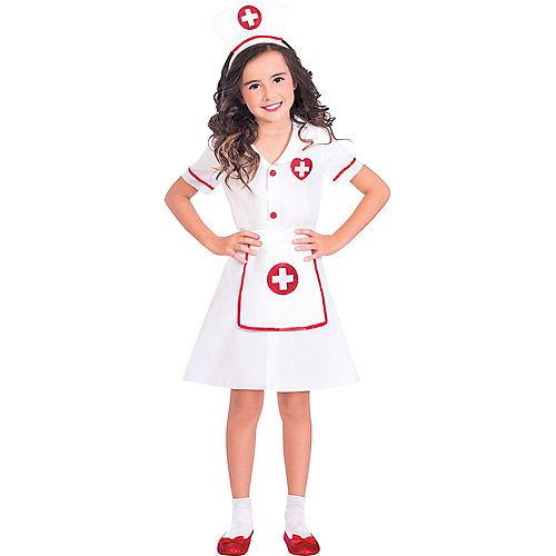 Girls Darling Nurse Costume Image #1