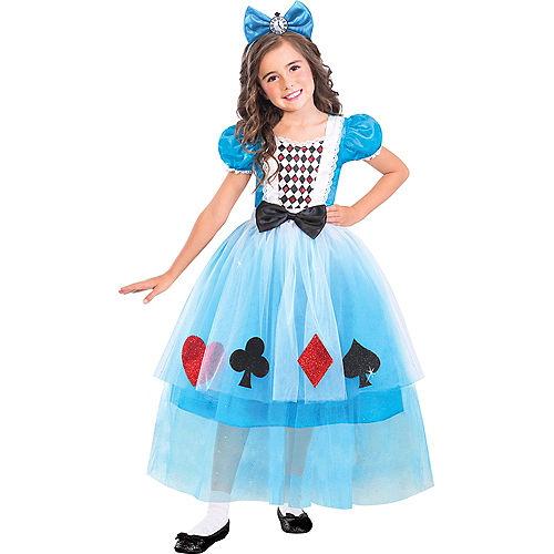 Girls Miss Wonderland Costume Image #1