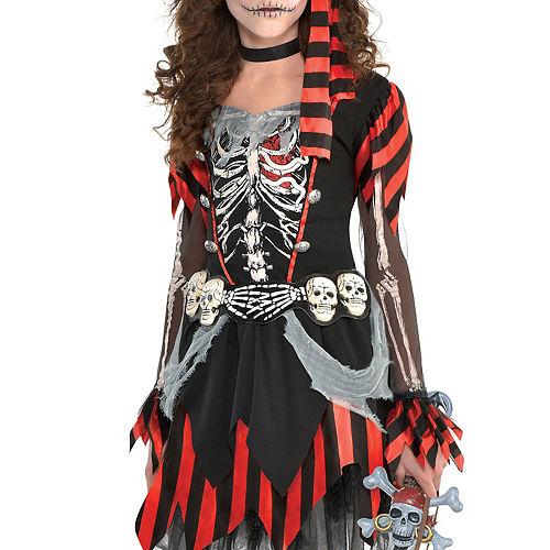 Girls Skele-Punk Pirate Costume Image #2