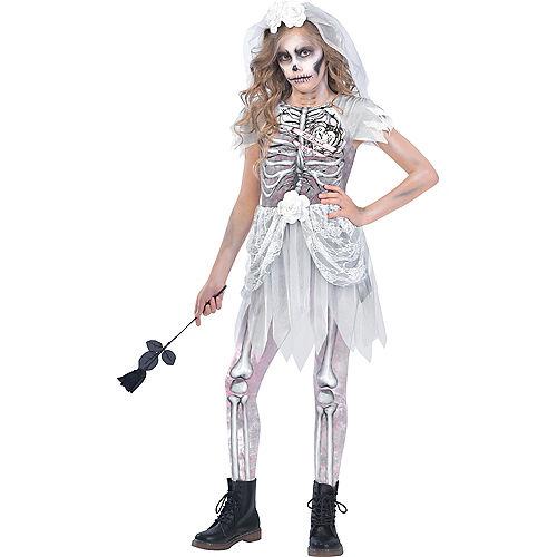 Girls Skeleton Bride Costume Image #1