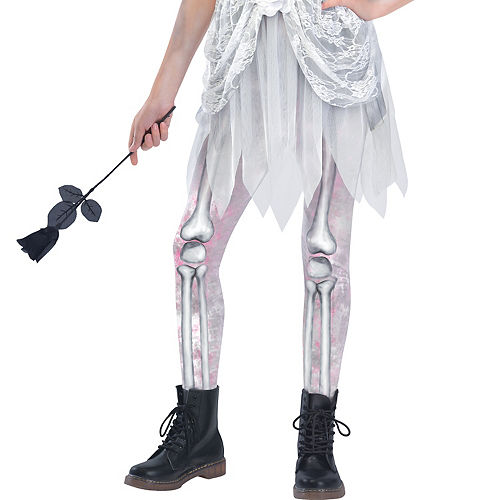 Girls Skeleton Bride Costume Image #4