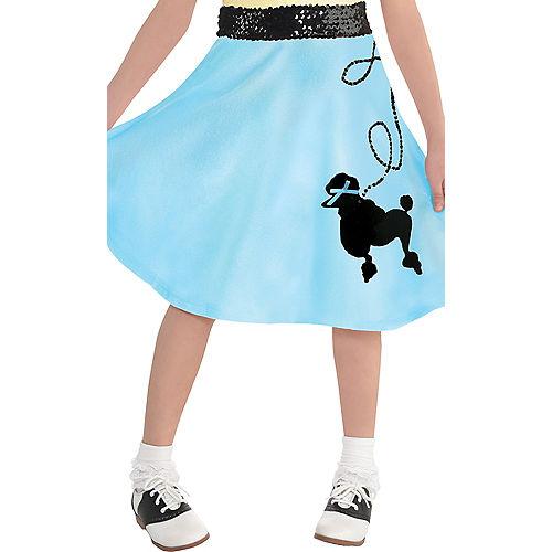 Child Light Blue 50s Poodle Skirt Image #1