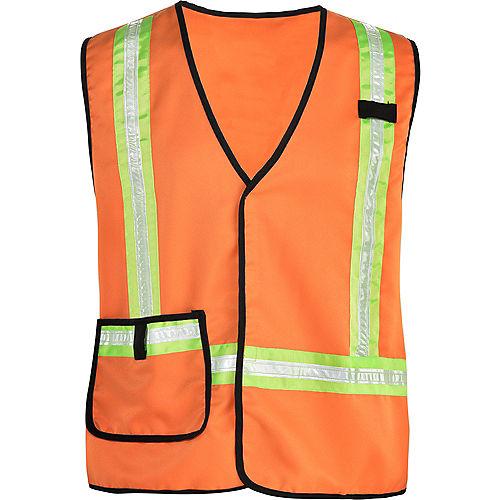 Adult Construction Worker Vest Image #2