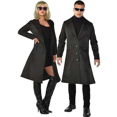 Adult Black Trench Coat Image #1