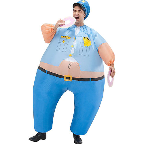 Adult Inflatable Cop Costume Image #1