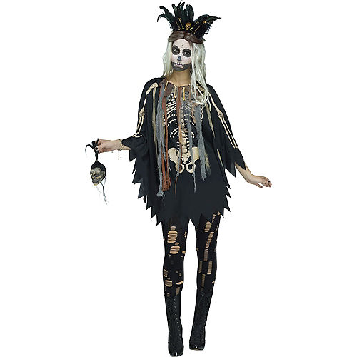 Womens Witch Doctor Poncho Image #1