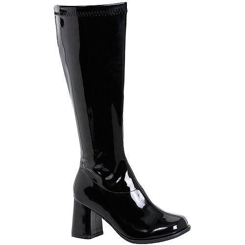 Womens Black Go-Go Boots Image #1