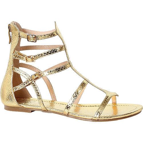 Womens Gold Athena Gladiator Sandals Image #1
