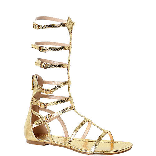 Womens Gold Zena Gladiator Sandals Image #1