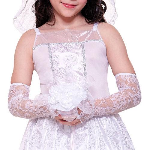 Girls Dreamy Bride Costume Image #3