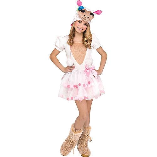 Girls Lovely Llama Costume Image #1
